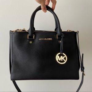 MK Saffiano Large Leather Satchel
